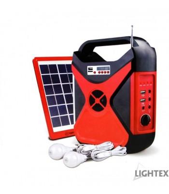 Lightex 638AL0002011 Tiger World Преносим соларен фенер с радио
