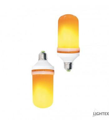 Lightex 170AL0060525 5W 220V E27 1400K LED лампа с гравитационен център жълт пламък
