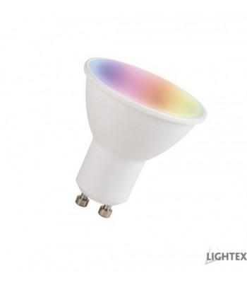 Lightex 652AL0000301 Smart WiFi 5.5W GU10 RGB&DIM&CCT APP Android&iOS LED лампа с управление Alexa&Google&Tuya