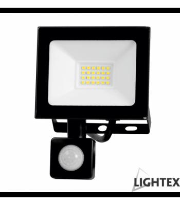 Lightex 504AL0020022 Vini 220V 10W IP65 CW6500K Black LED Прожектор със сензор