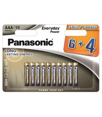 Panasonic Alkaline AAA LR03EPS/10BW 6+4F Батерия