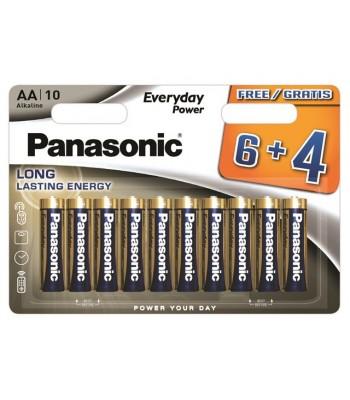 Panasonic Alkaline AA LR6EPS/10BW 6+4F Батерия