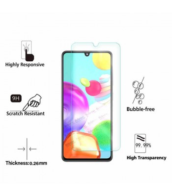 Samsung A41 11D Full Glue Glass Black Протектор