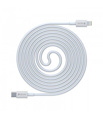 Devia Smart PD Cable For Lightning 1m White Кабел