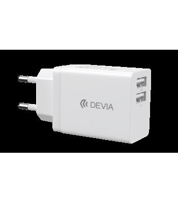 Devia 329593 DV00238 Smart Series 2USB EU 2,4A White Зарядно